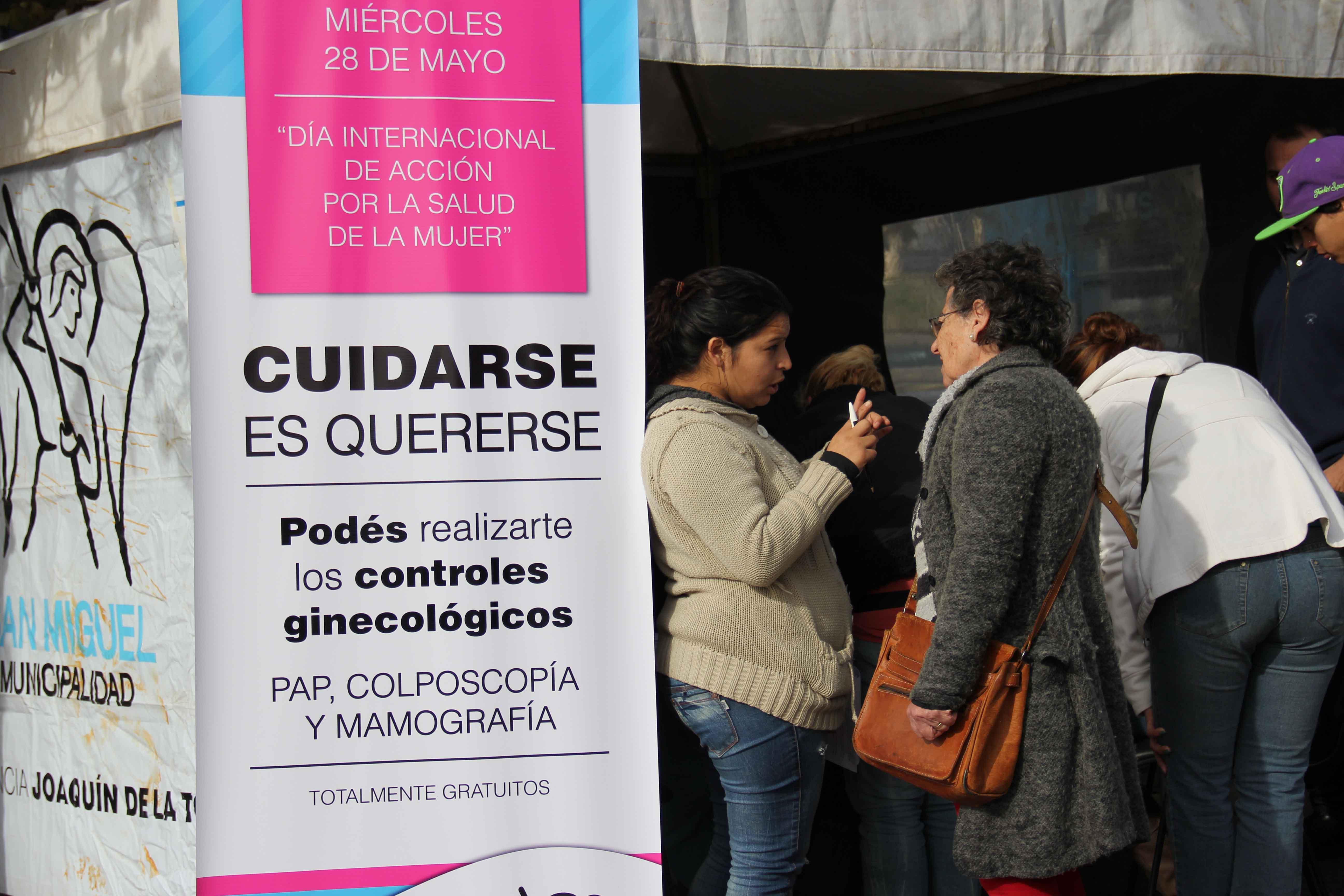 San Miguel organizó jornada por el Día de Acción por la Salud de la Mujer
