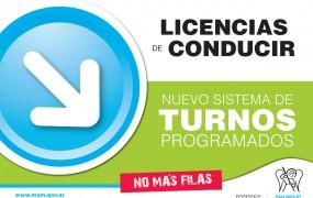 Nuevo sistema de turnos programados en Licencias de Conducir