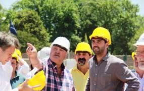 Joaquín de la Torre visitó el avance de las obras junto al Director Ejecutivo de ANSeS, Emilio Basavilbaso