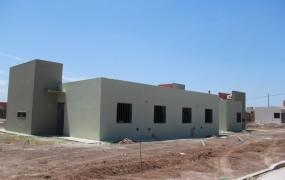 Una de las viviendas casi terminadas