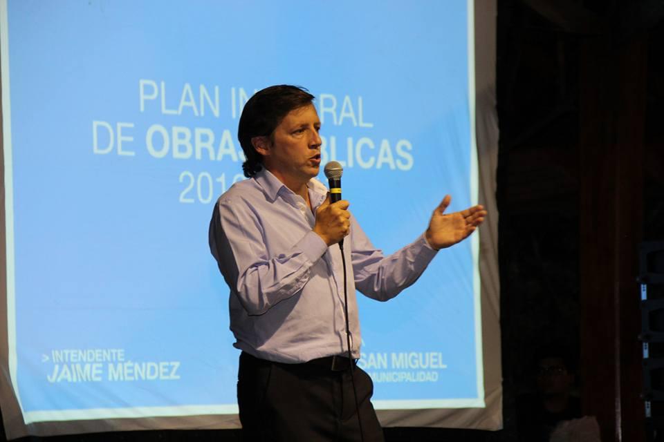 Jaime Méndez presentó un Plan Integral de Obras Públicas para San Miguel